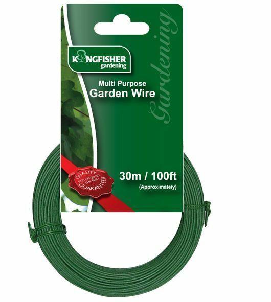 30m Multi Purpose Garden Wire 1mm Strong Green Plant Tie