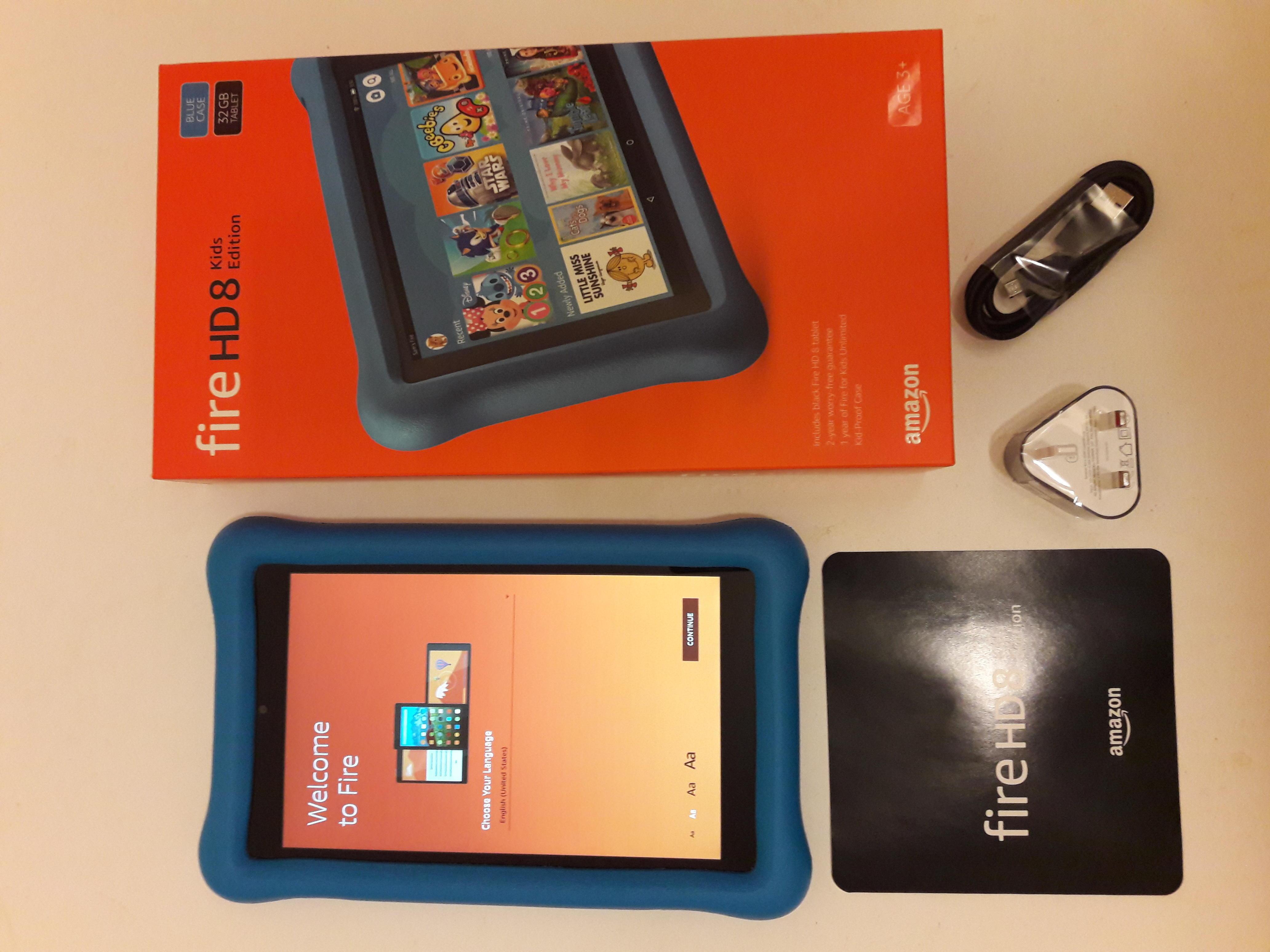Amazon Fire HD 8 Kids Edition 32GB, Blue Kid-Proof Case