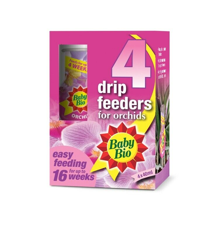 Baby Bio Orchid Drip Feeders - 4 x 40ml
