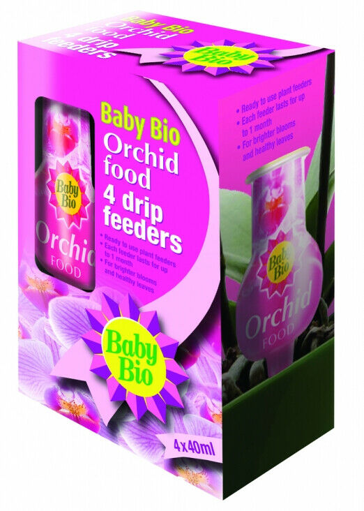 Baby Bio Orchid Drip Feeders 4 x 40ml Convenient Ready To