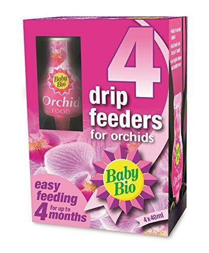 Baby Bio Orchid Drip Feeders, Ready to Use Plant Feed, 4 x