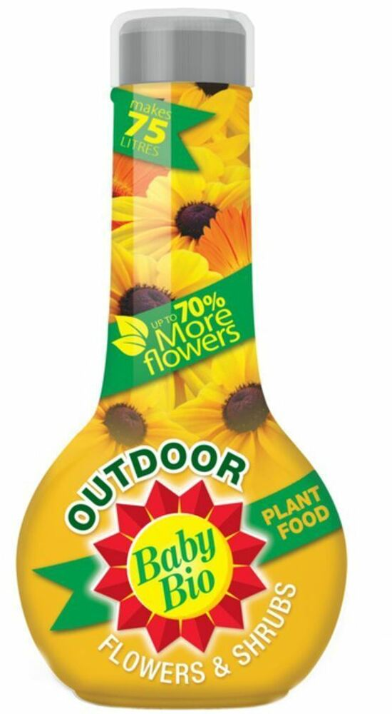 Baby Bio Outdoor Flowers & Shrubs Plant Food 750ml UP TO 70%