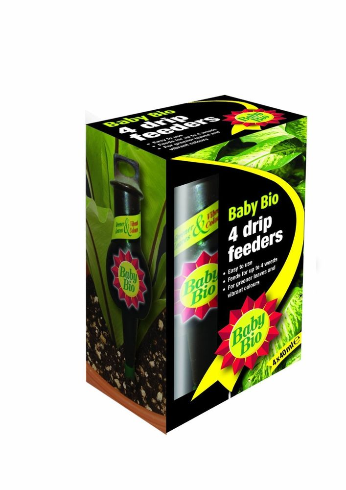 Baby Bio - Ready-to-use Liquid Drip Feeders - 4x40ml Plant