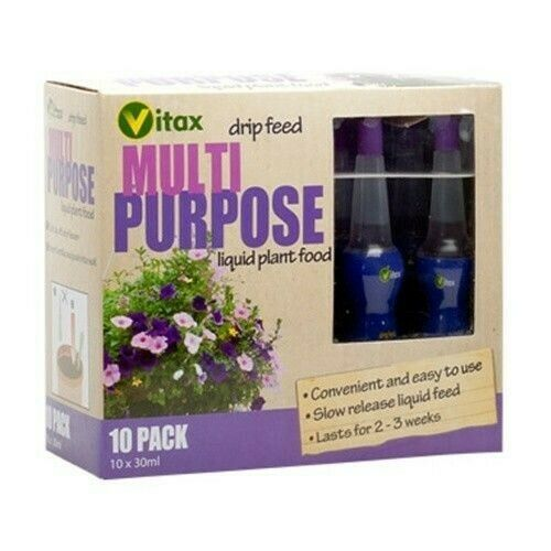 VITAX - Multi Purpose Plant Food Drip Feeders -10 Drippers