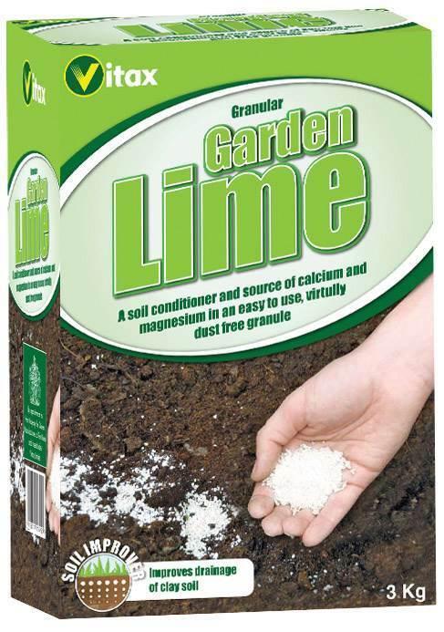 Vitax 3kg Granular Garden Lime Soil Calcium Magnesium