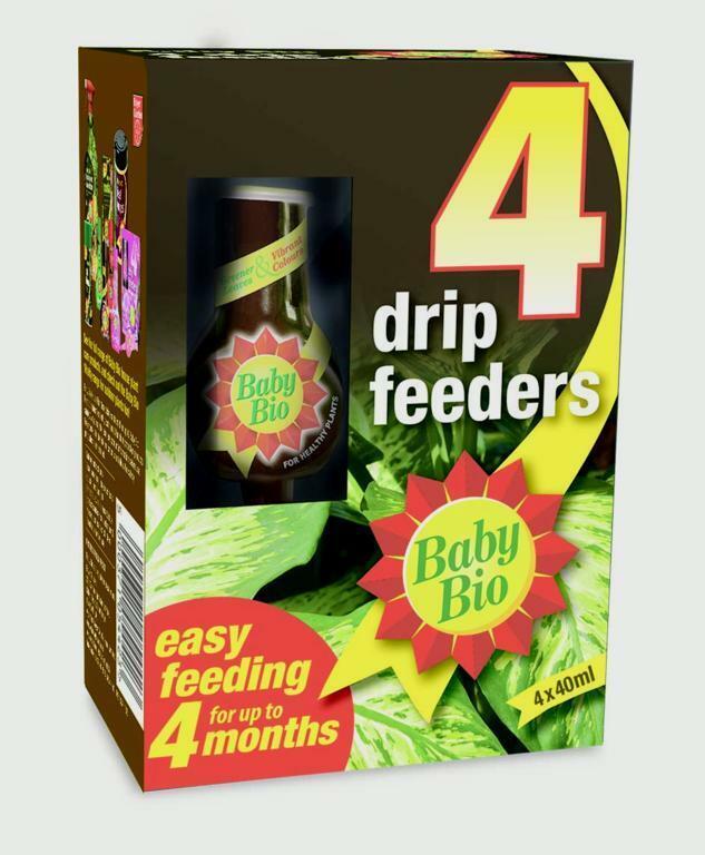 [2 Pack] Baby Bio Original 4 Drip Feeder, Ready to Use Plant