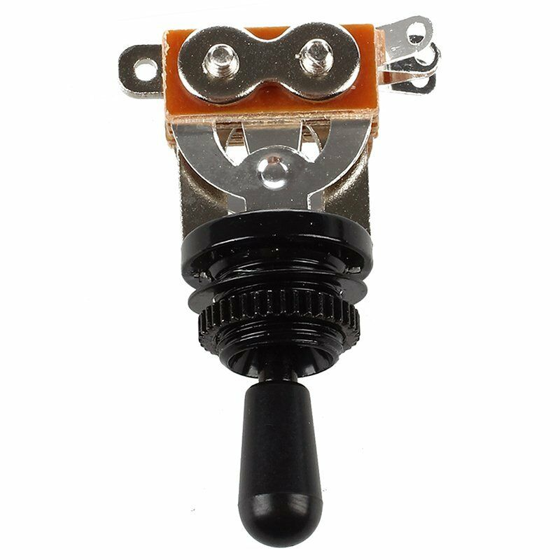 3X(Black Tip 3 Way Toggle Switch Pickup Selector for