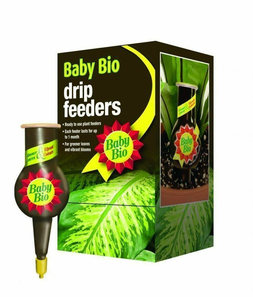8 Baby Bio Original Drip Feeder Feed Food Fertiliser 40ml