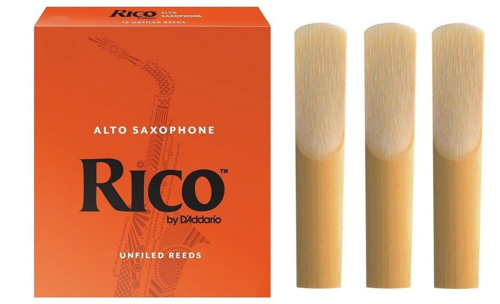 Genuine Rico Alto Sax Reed 1.5 Pack of 3