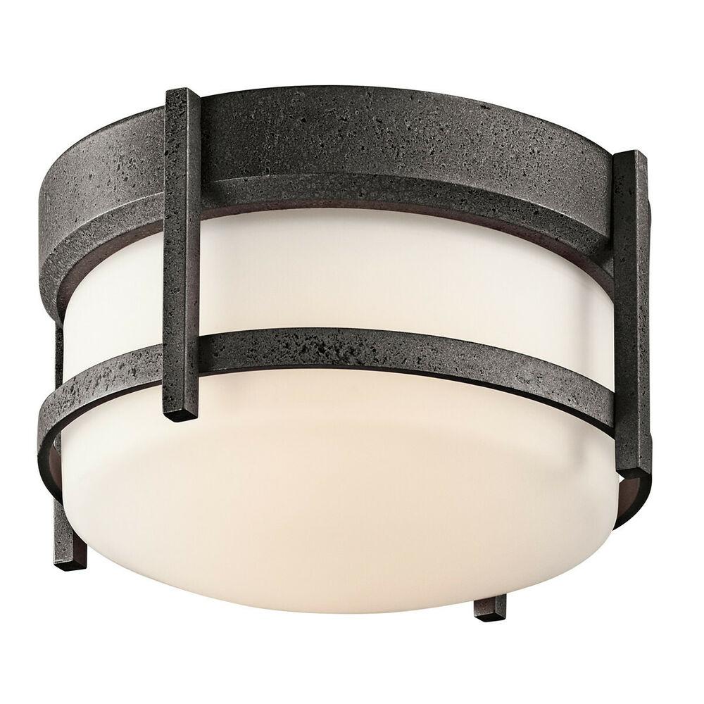Kichler AVI Anvil Iron 1-Light Outdoor Ceiling Fixture