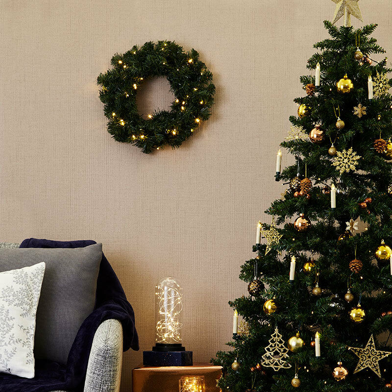 Konstsmide Battery Operated LED Spruce Wreath