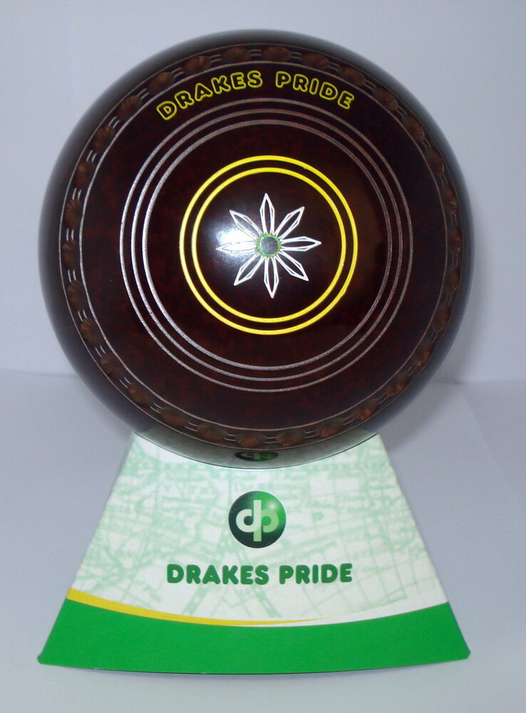 NEW Lawn Bowls Drakes Pride Professional Speckled brown Size