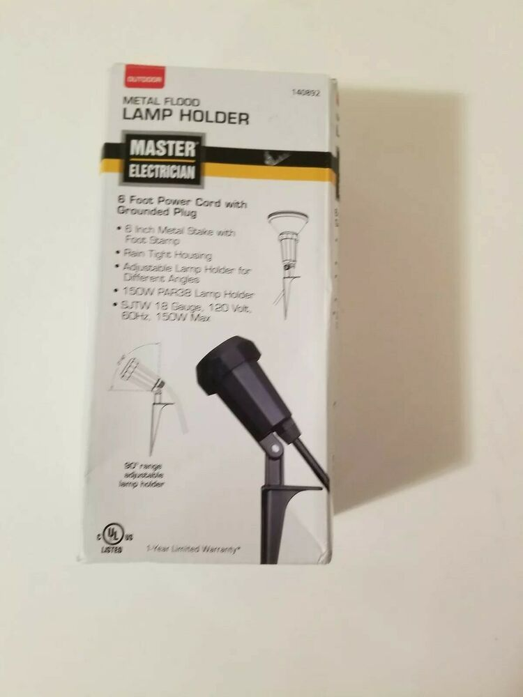 NEW Master electrician Outdoor Metal Flood Lamp Holder