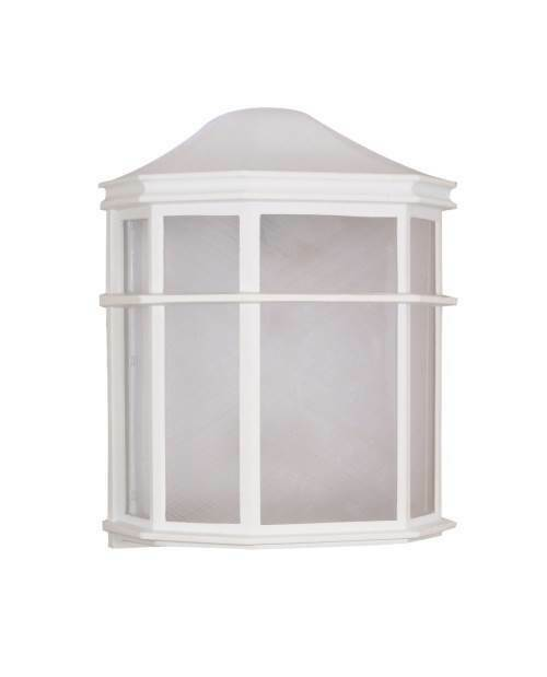 Outdoor - 1 Light Cfl - 10 in. Cage Lantern Wall Fixture [ID