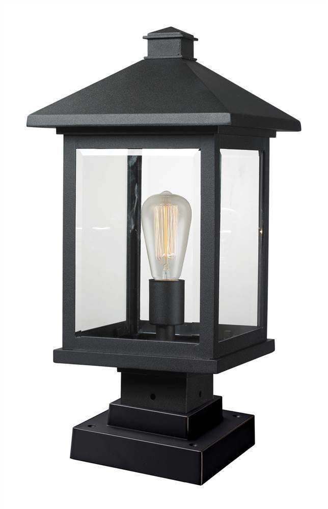 Outdoor Pier Mount Light in Black [ID ]