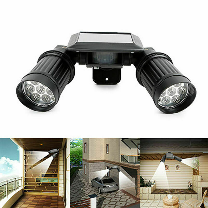 Outdoor Solar Power Motion Sensor Garden Floodlight 14 LED