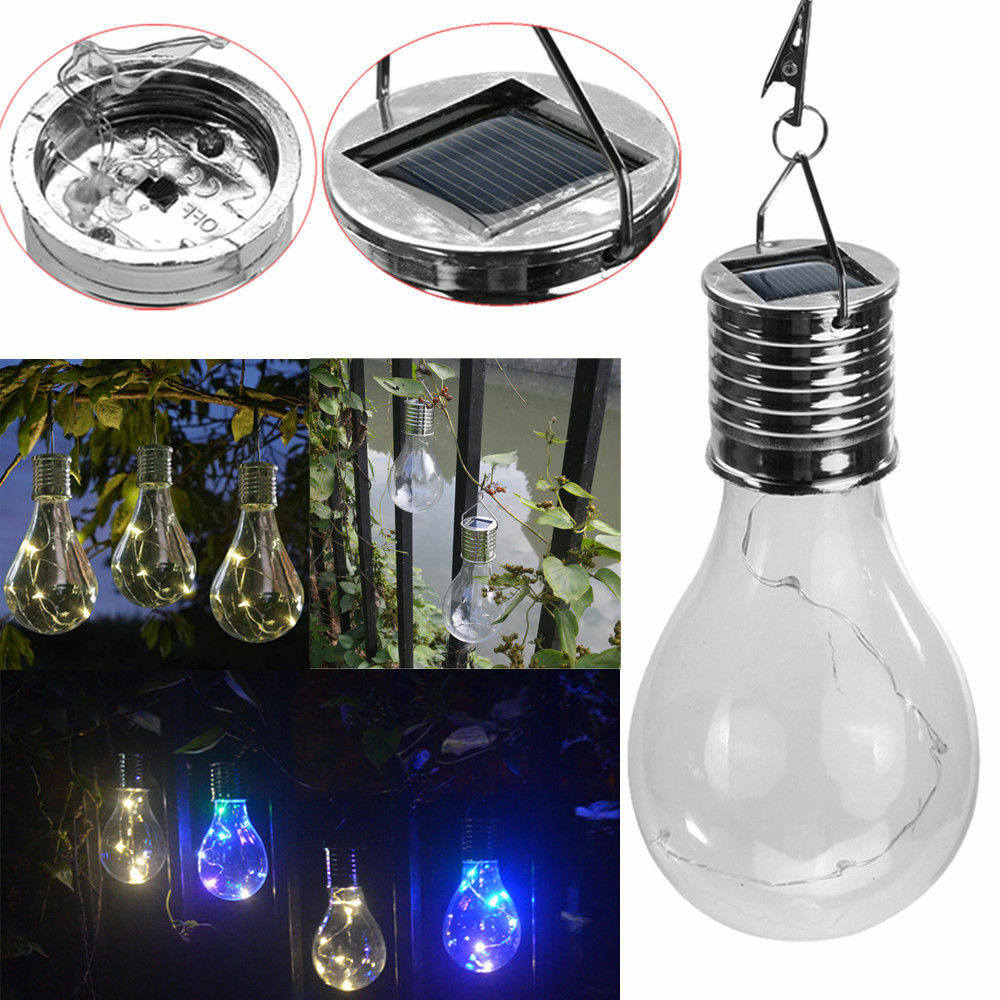 Solar Rotatable Outdoor Garden Camping Hanging LED Light