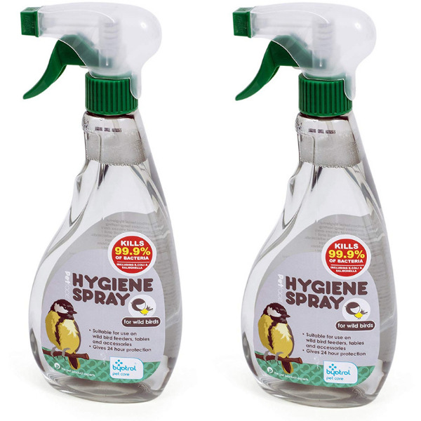 2 x Petface Wild Bird Hygiene Bird Feeder Spray 500ml