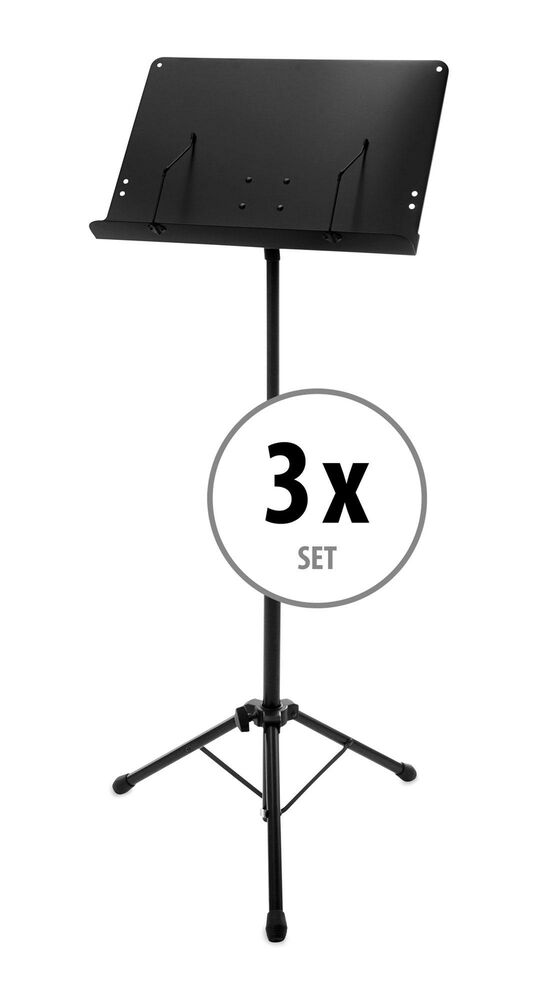 3x Foldable Adjustable Orchestral Music Stand Sheet Holder