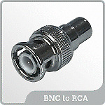 BNC - RCA adapter for CCTV DVR Audio Video cable