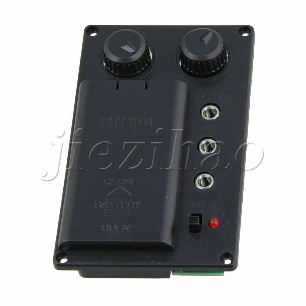 Black Silent Violin Pickup with Headphone for Electric