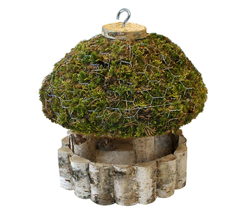Dehner  Natura Wild Bird Feeder with Roof, Diameter