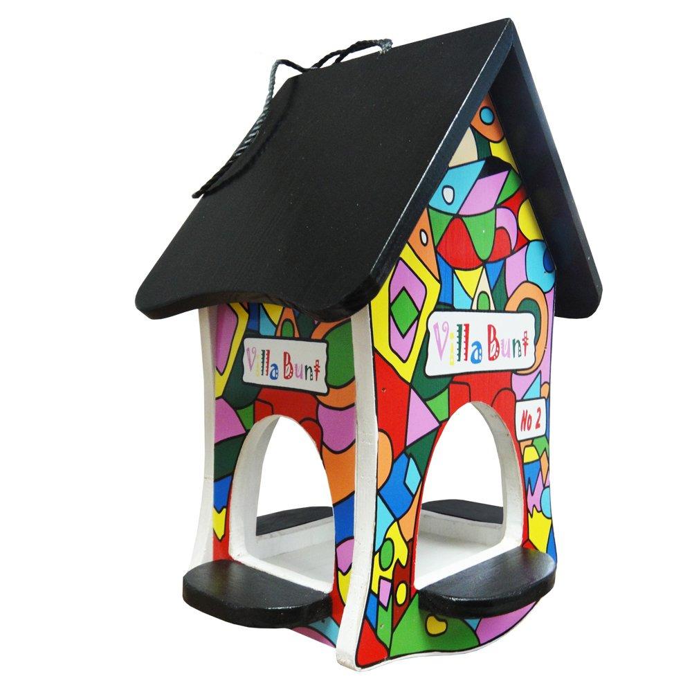 HABAU  Bird Feeding House Colourful Villa Design Number