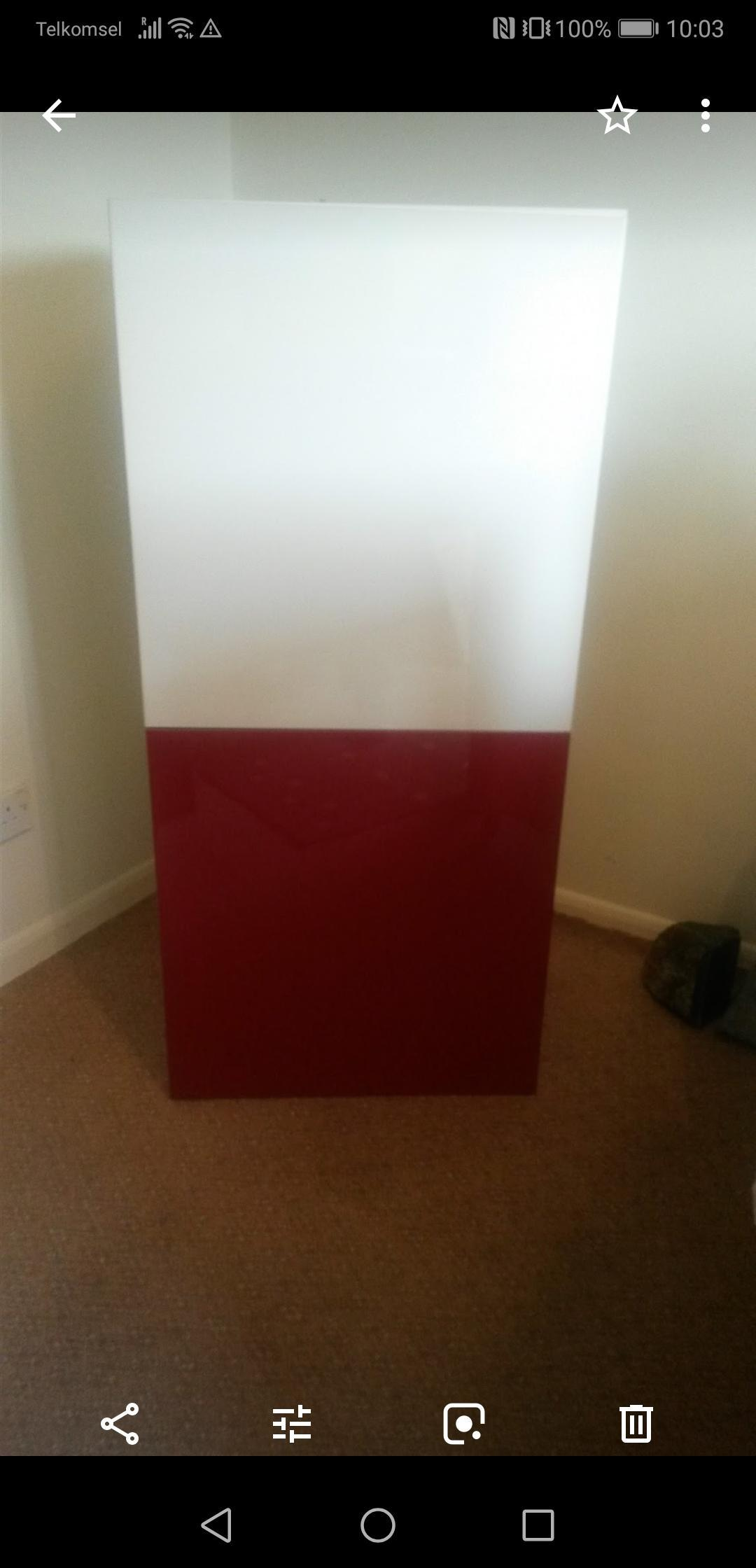 IKEA high gloss cabinet with hidden desk/ storage unit