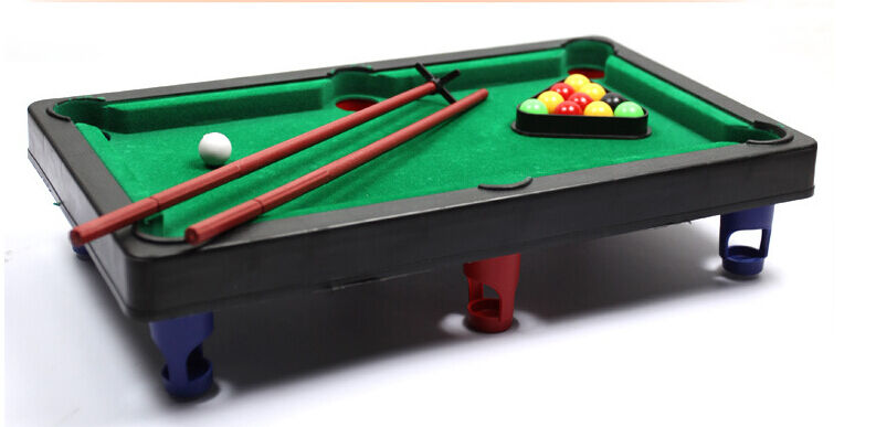 KIDS TOY MINI TABLE TOP SNOOKER POOL PLAY SET DESKTOP