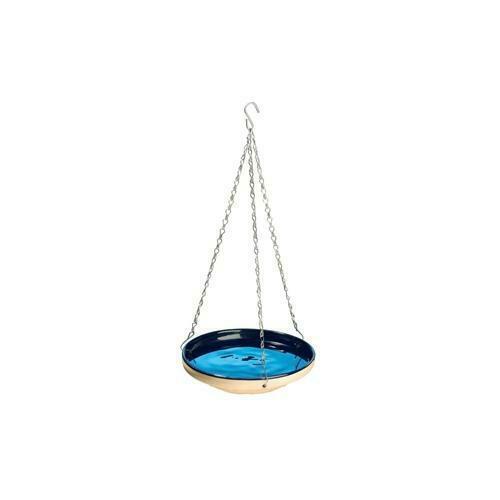 NEW Gardman BA Garden Bird Bath Glazed Blue
