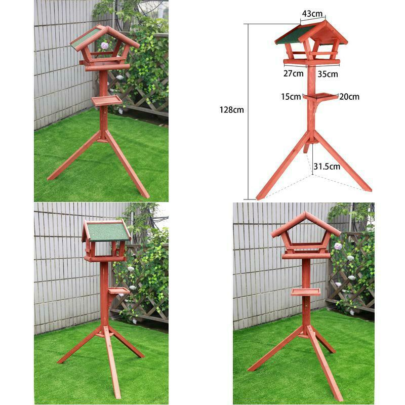 Petsfit Solid Wood Bird Feeder/Bird Table/Bird House With