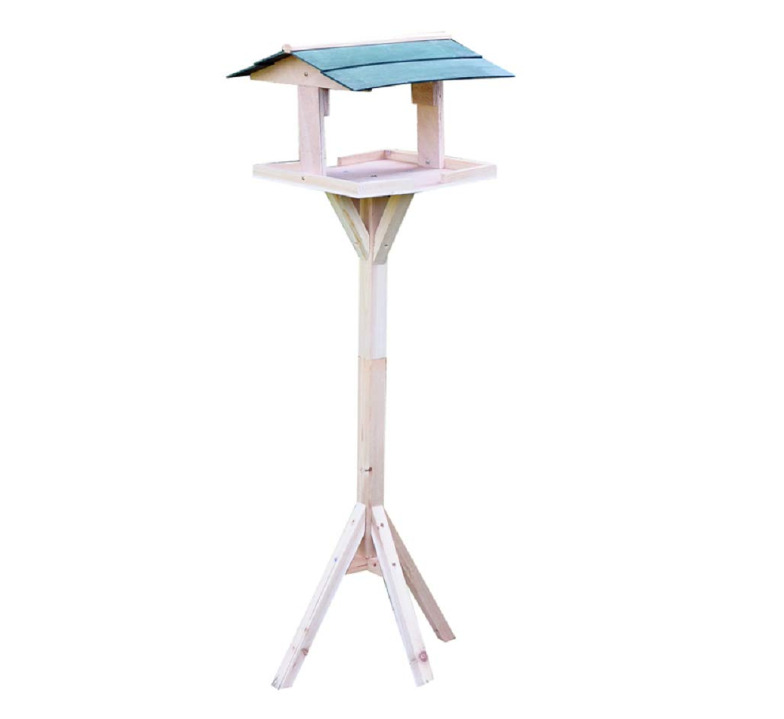 Traditional Wooden Wild Bird Nesting & Feeding Table Free
