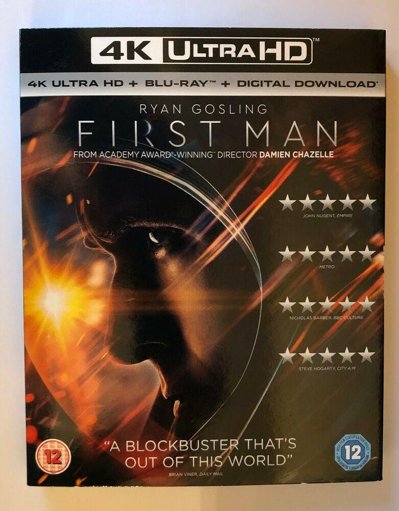 FIRST MAN 4K ULTRA HD / BLU RAY / DIGITAL UK NEW FACTORY