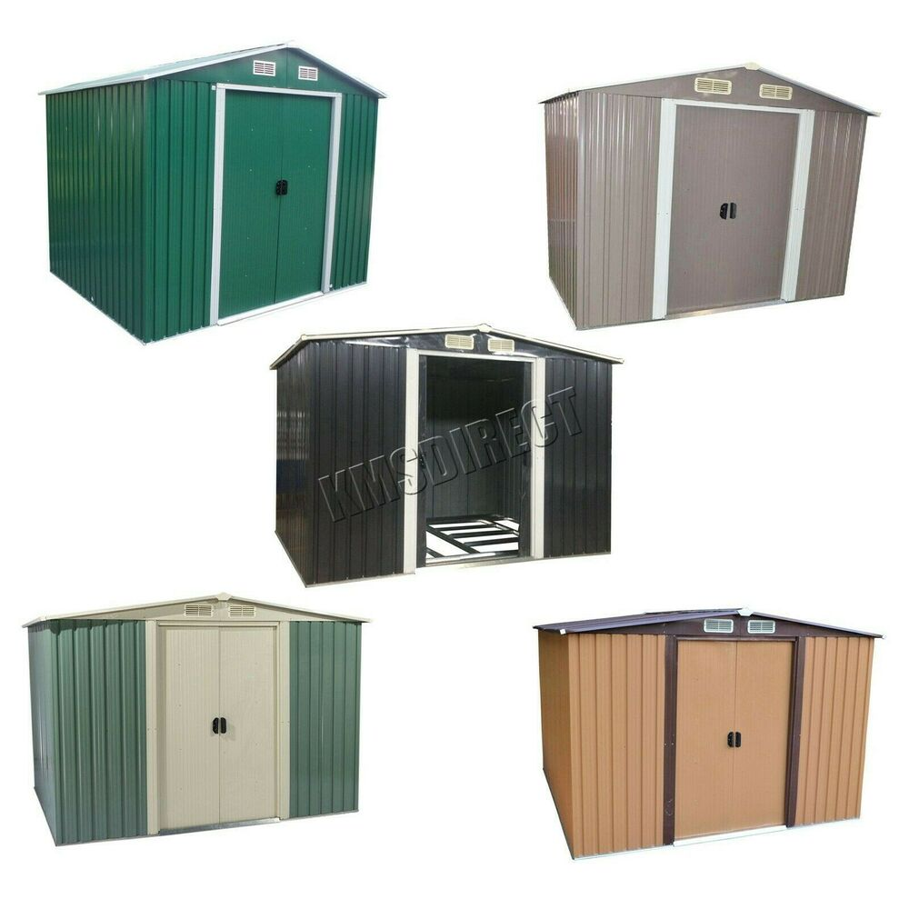 WestWood New Garden Shed Metal Apex Roof Outdoor Storage