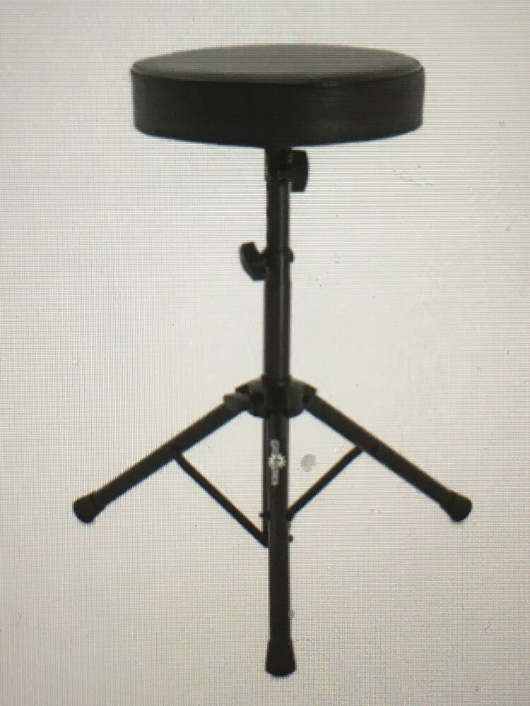 Drum Throne Stool By Gear4music In Black New