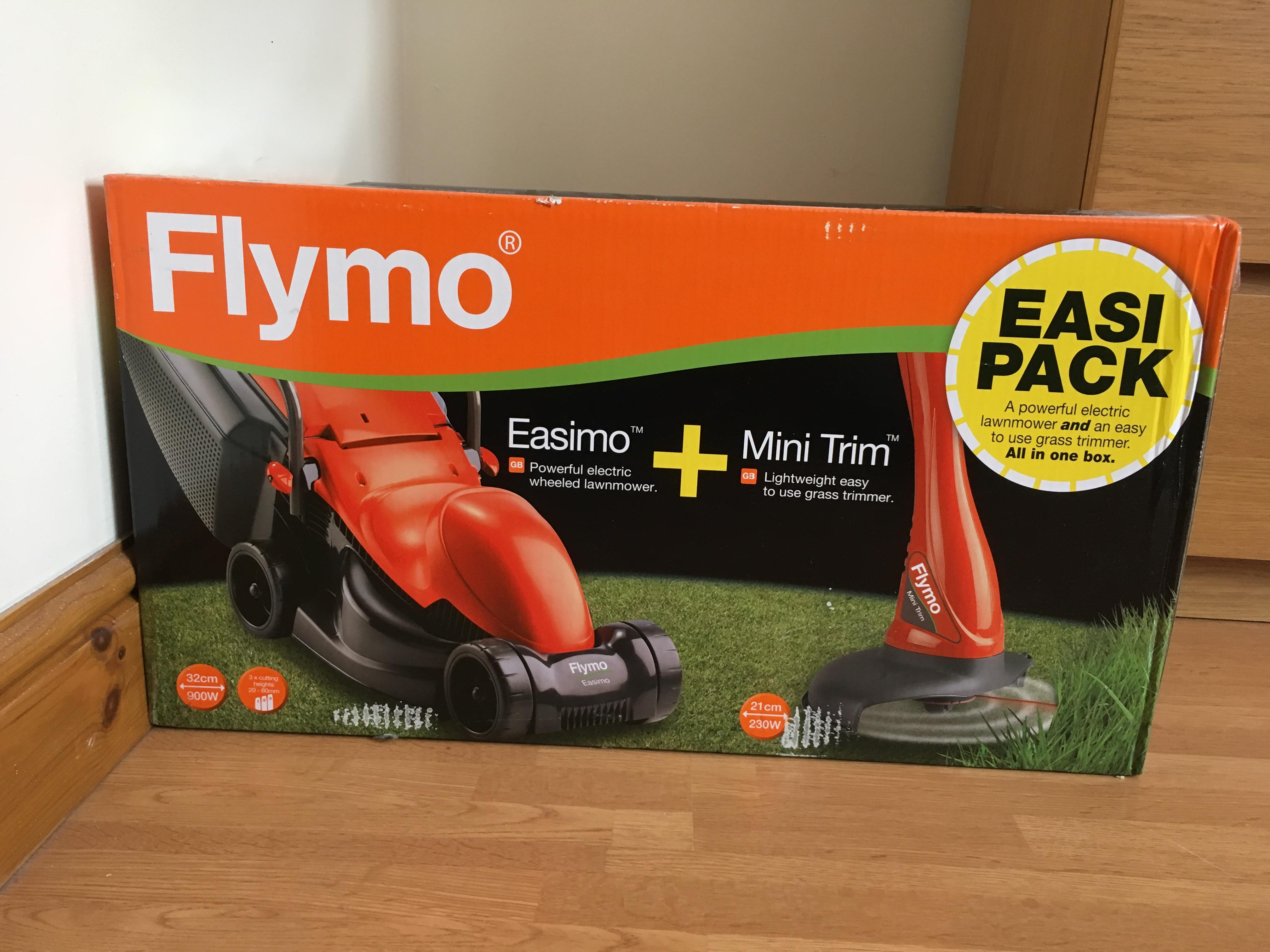 New Flymo Easimo Lawnmower and Grass Trimmer