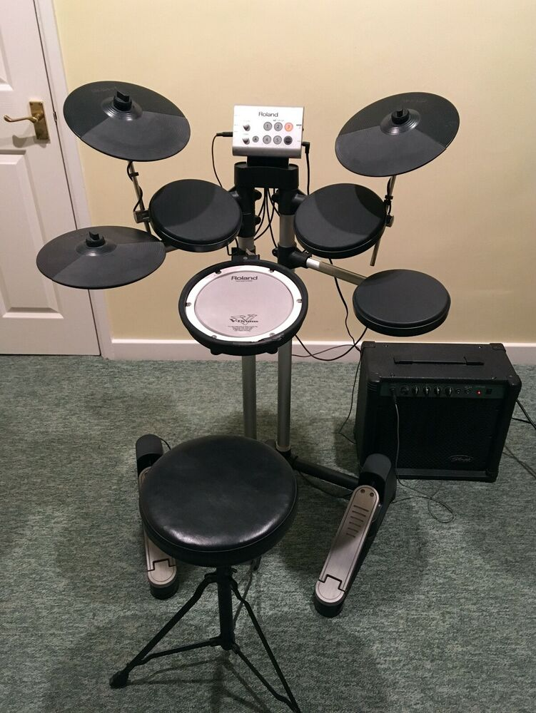 Roland HD1 V Drums Lite Electronic drum kit with stool and
