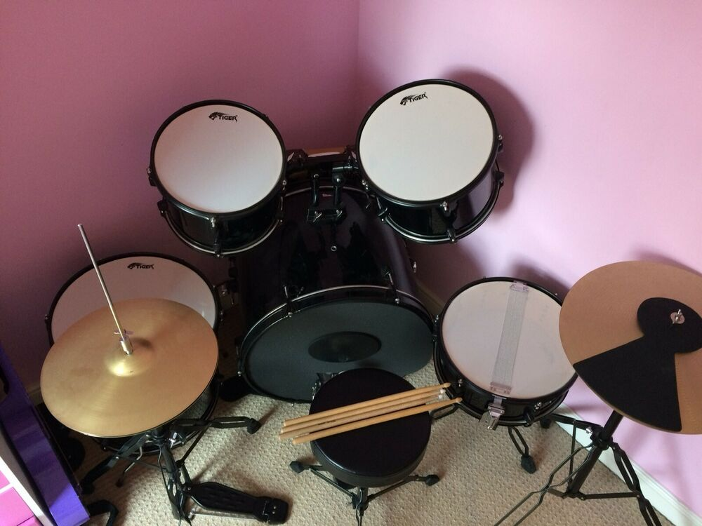 Tiger Junior Drum Kit With Silencers
