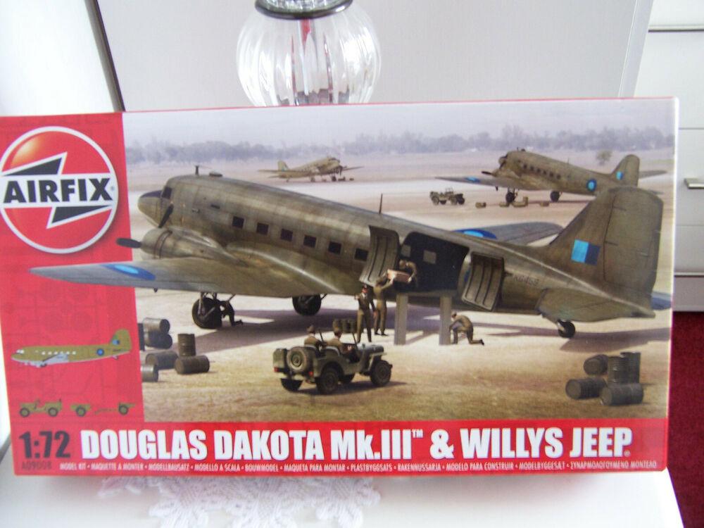 AIRFIX KITS A,DOUGLAS DAKOTA MK.111 & WILLYS JEEP 1.72