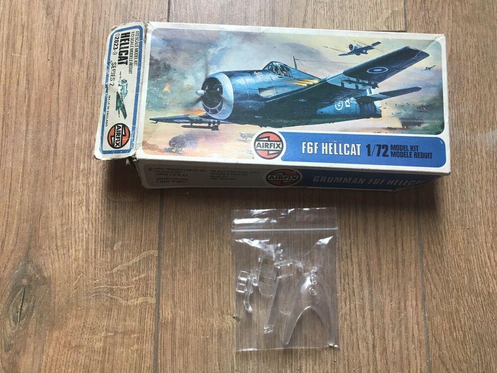 Airfix 1/72 Scale Grumman F6F Hellcat Clear Plastic Parts