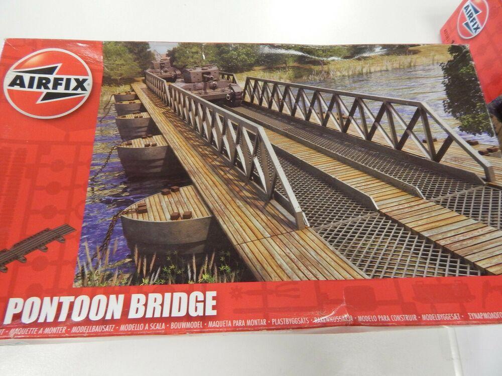 Airfix 1/76 scale plastic kit Pontoon Bridge