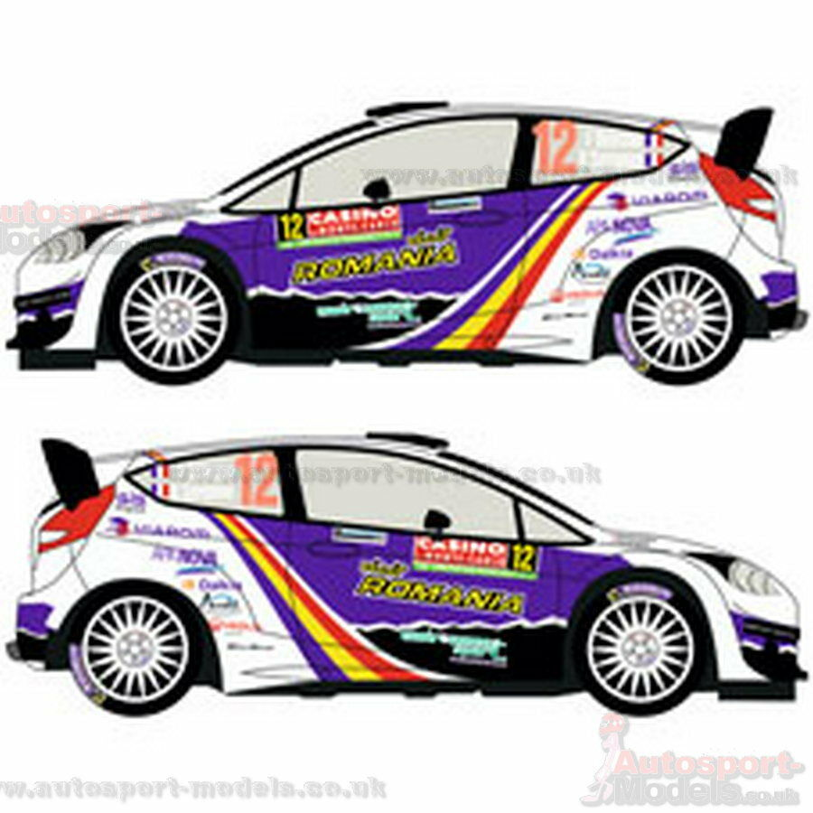 Ford Fiesta WRC #12 Monte Carlo Rally decal set by