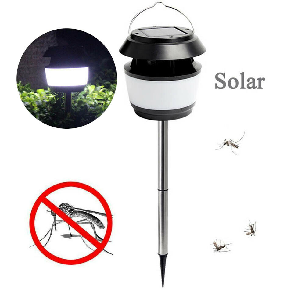 Garden Ultrasonic Insect Killer Insect Zapper With LED Post
