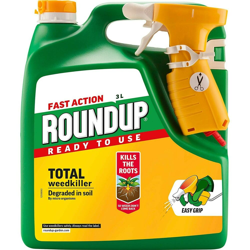 Roundup Fast Action Weedkiller Spray (Ready to Use) 3 L