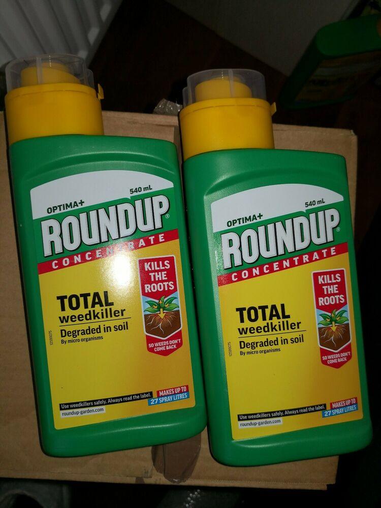 Roundup Optima+ Total Weedkiller 2x 540ml bottles brand new