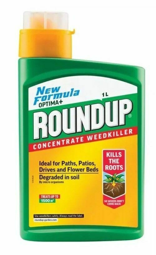 Roundup Optima+ Weedkiller 1L Concentrate - Kills Roots