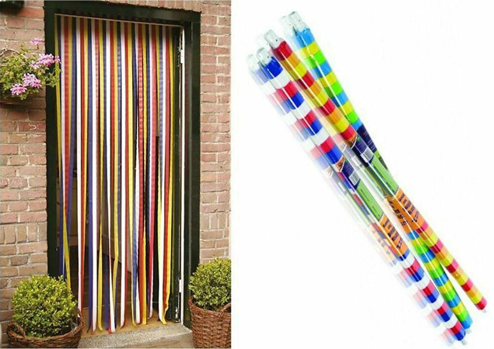 STV Plastic Door Strip Curtain Stop Fly Insect Striped Blind