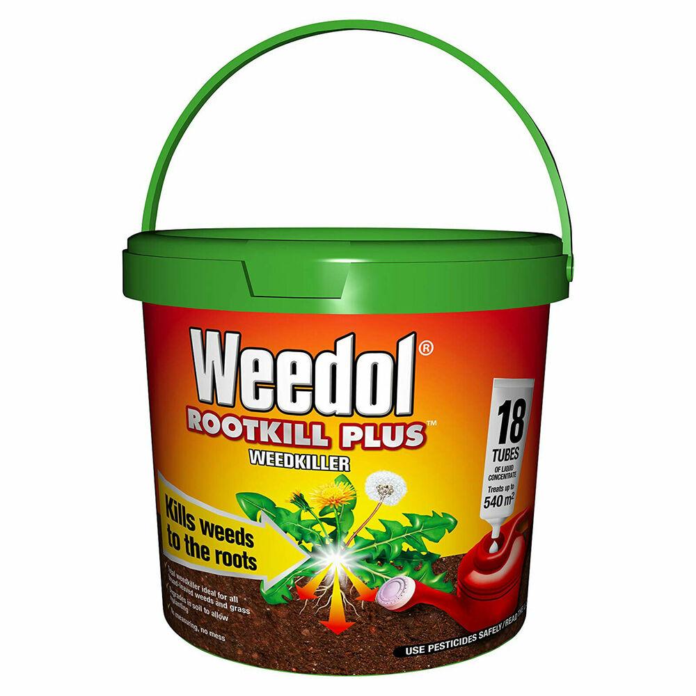 Weedol Rootkill Plus Weedkiller 18 Tubes Liquid Concentrate