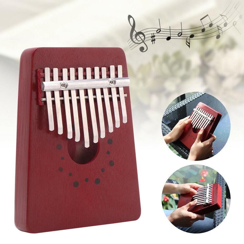 10 Key Pumps Finger Thumb Piano EQ IQ Training Toy Mahogany