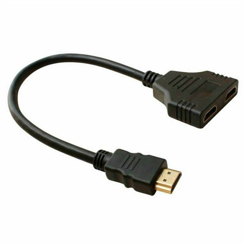 2 in 1 HDMI Splitter Adapter Full HD 3D P I4M6 1T